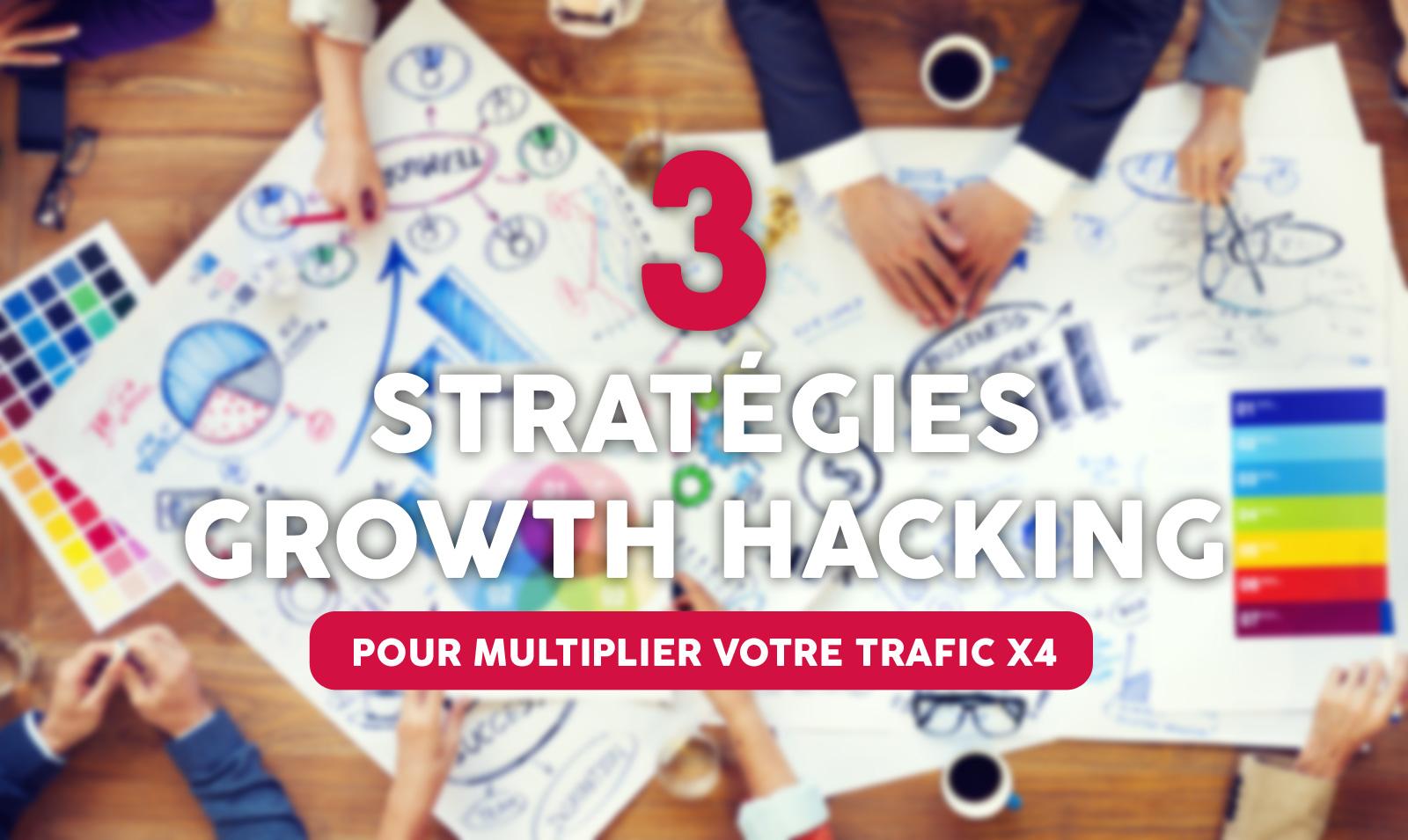 Growth Hacking : 3 stratégies pour multiplier le trafic de son blog par 4 sans référencement