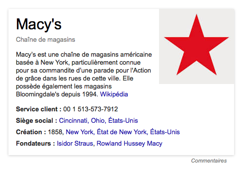 knowledge graph sans données google +