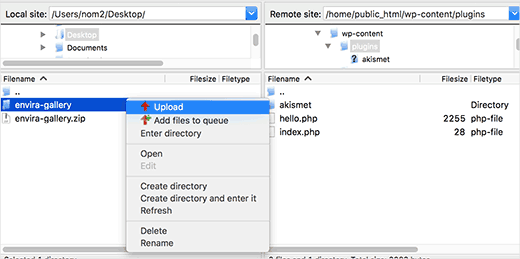 installer plugin wordpress par ftp