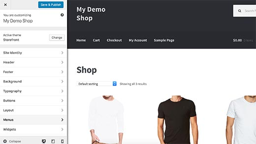 Personnaliser le théme Storefront Woocommerce